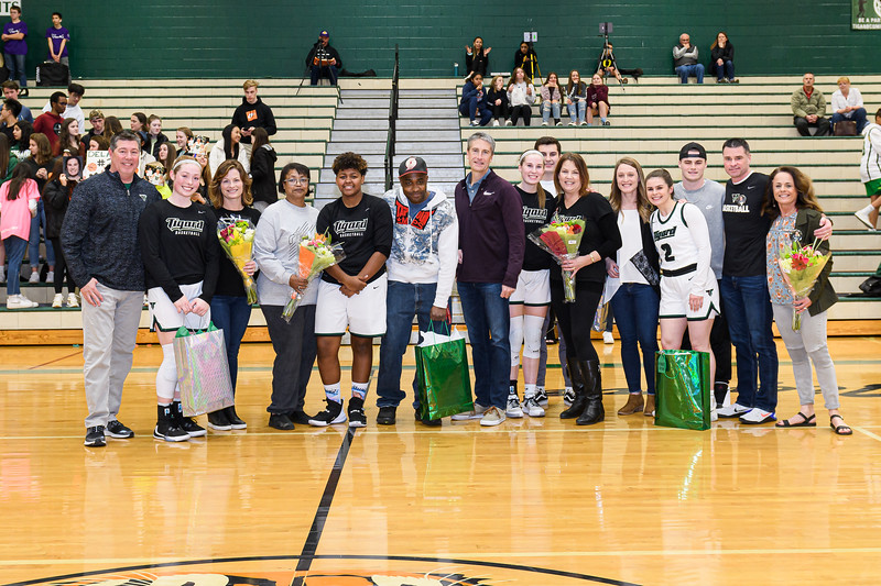 THS Girls Varsity Basketball Senior Night