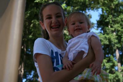 Alyssa and Camila at the Park