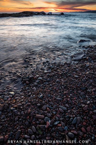Stone Beach Sunset
