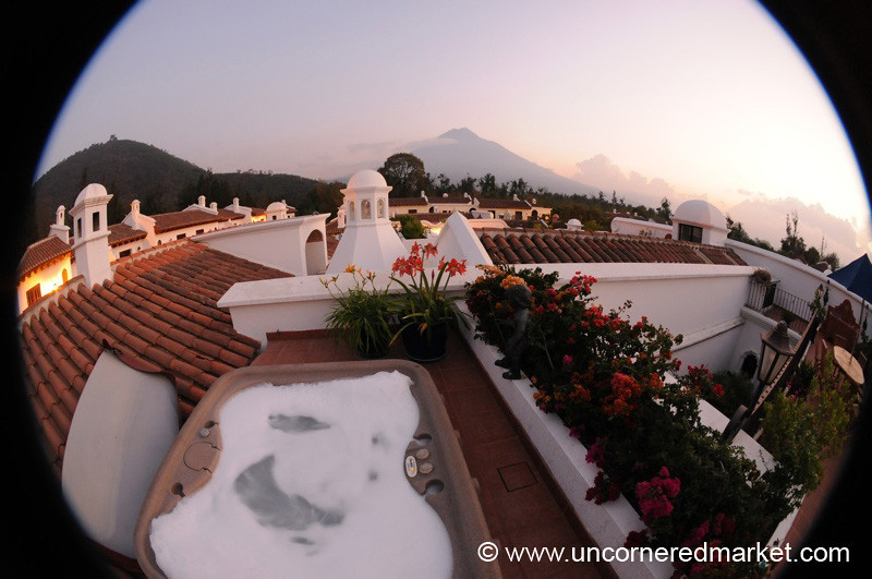 Fisheye Sunset  - Antigua, Guatemala