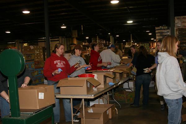 eleVation serving at NIFB (Northern Illinois Food Bank) - November 21, 2006