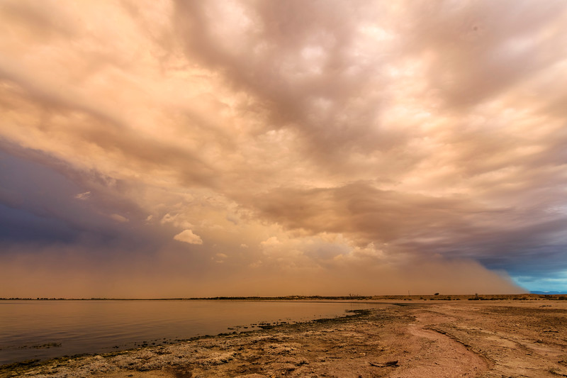 Haboob (dust storm) heads north just west of the Salton Sea