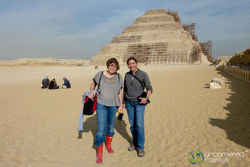 Audrey and Erica at Saqqara Pyramid - Egypt