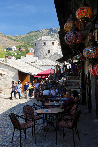 Turkish influence is apparent in Mostar