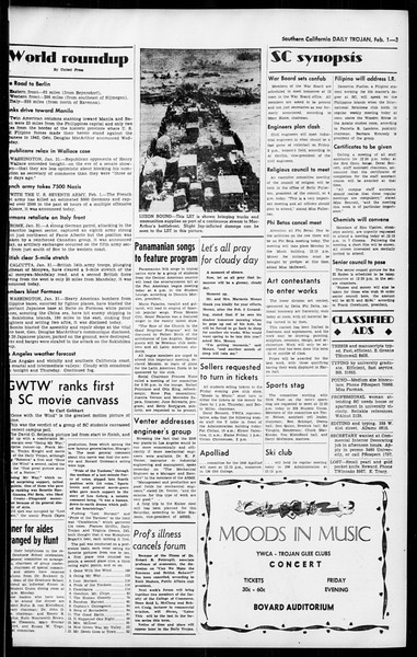 Daily Trojan, Vol. 36, No. 59, February 01, 1945