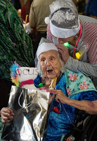 Silver Santa at Reunion Plaza Senior Care Center by Sarah A. Miller