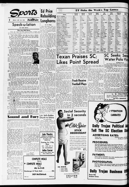 Daily Trojan, Vol. 47, No. 11, September 30, 1955