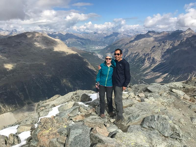 Munt Pers view toward St. Moritz