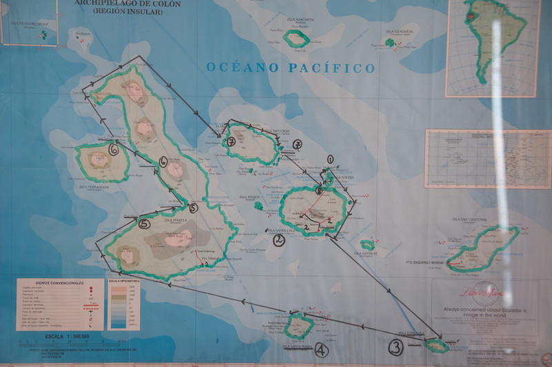 Our one-week route through the islands, about 500 nm.