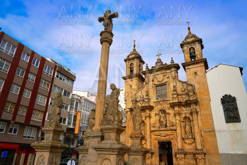 La Coruna Saint Jorge church in Galicia Spain