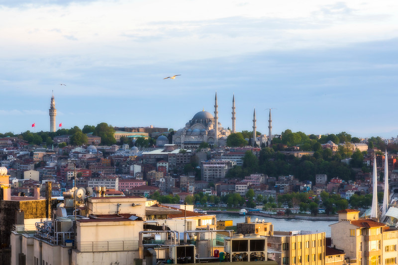 View of ancient part of Istanbul from our apartment balcony.