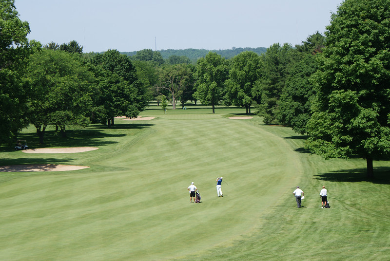 Play on the par 5 17th at Springfield CC.