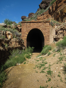2021-08-19 Johnson Canyon Crater and Railroad Tunnel