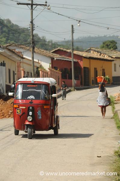 Tuk Tuk on Street - Gracias, Honduras