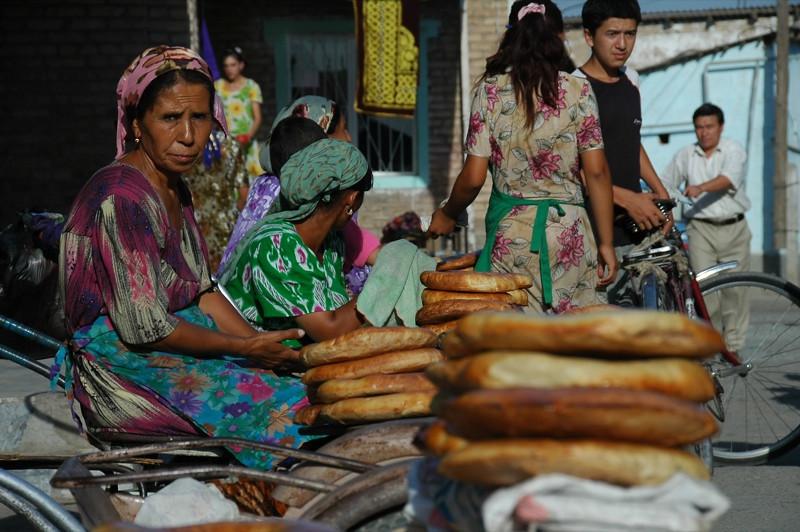 Bread Vendors - Shakhrisabz, Uzbekistan