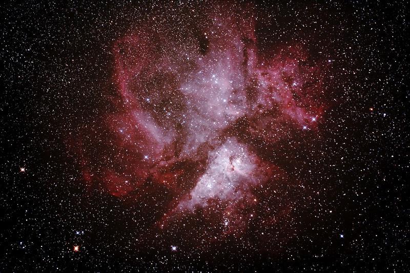 Caldwell 92 - NGC3372 - Eta Carinae Nebula - 23/2/2014 (Processed stack)