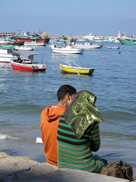 young couple, Alexandria, Egypt