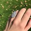 2.65ctw (est) Old Mine Cut Cobblestone Ring, French 40