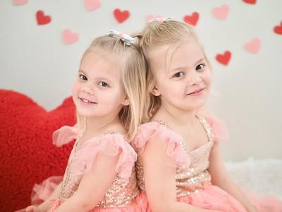 Kids: Maya and Klara Vday