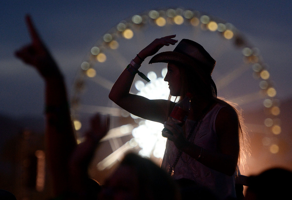 . Fans enjoy Easton Corbin on the Mane Stage Friday April 25, 2014 on opening day of Stagecoach 2014 at the Empire Polo Club in Indio. (Will Lester/Inland Valley Daily Bulletin)