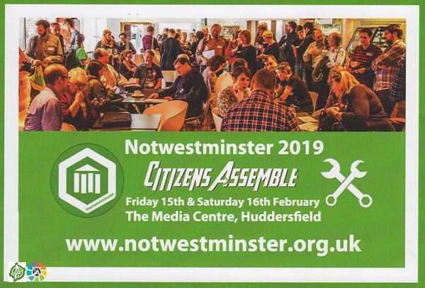 #Notwestminster 2019 Main Event