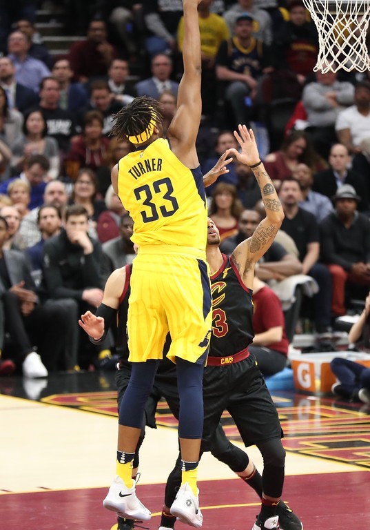 . Tim Phillis - The News-Herald Scenes from Game 2 of the first-round playoff series between the Pacers and Cavaliers on April 18 at Quicken Loans Arena.