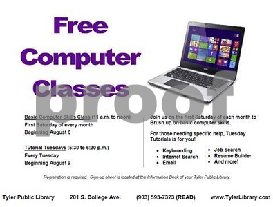 tyler-public-library-to-offer-classes-that-teach-basic-computer-skills