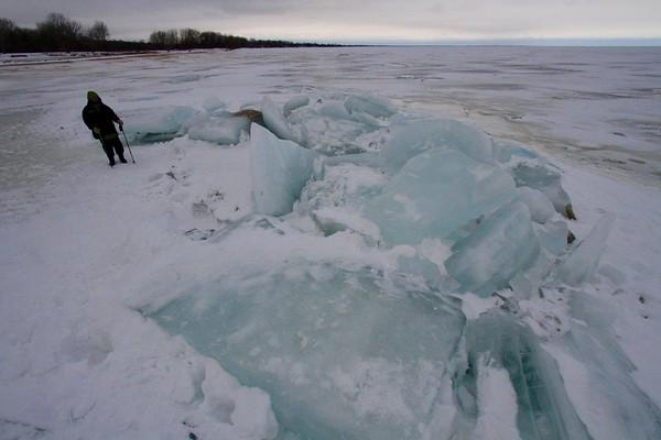 Blue Ice on Saginaw Bay