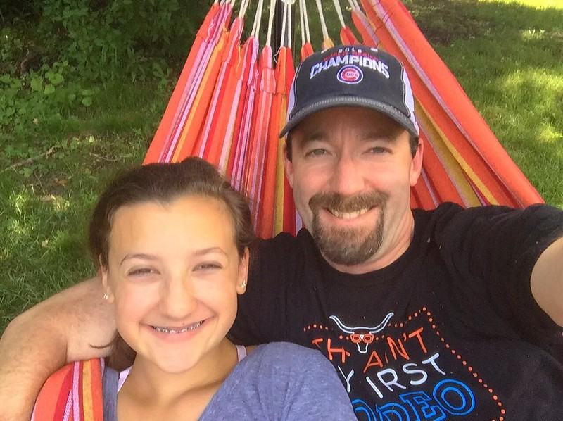 Hammocking with @kaylakat25 before she leaves for summer camp tomorrow. Gonna miss her terribly!