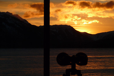 DAY 12 - January 12, 2011 - Binocular Sunrise Cynthia Meyer, Tenakee Springs, Alaska