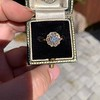 1.97ctw Antique Cluster Ring, GIA G SI2 47