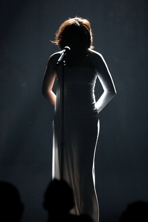 . Whitney Houston performs at the 37th Annual American Music Awards on Sunday, Nov. 22, 2009, in Los Angeles. (AP Photo/Matt Sayles)