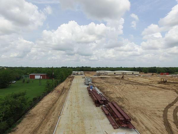 Upper School Construction Aerial images