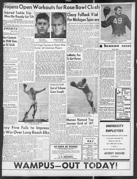 Daily Trojan, Vol. 39, No. 66, December 18, 1947