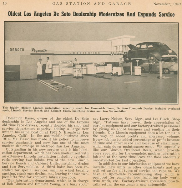 1949, Dealership Modernizes