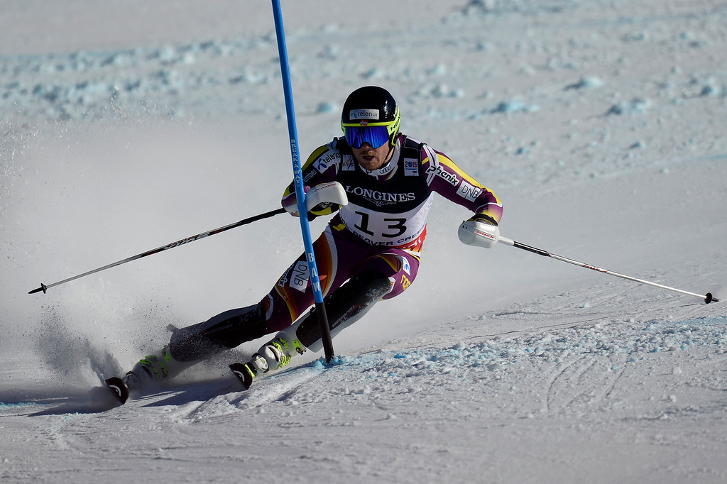 . BEAVER CREEK, CO - FEBRUARY 08: Kjetil Jansrud of Norway competes during the men\'s alpine combined final. FIS Alpine World Ski Championships 2015 on Sunday, February 8, 2015. (Photo by AAron Ontiveroz/The Denver Post)