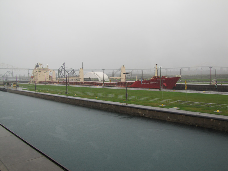 Federal Yoshino being lowered in the Poe Lock