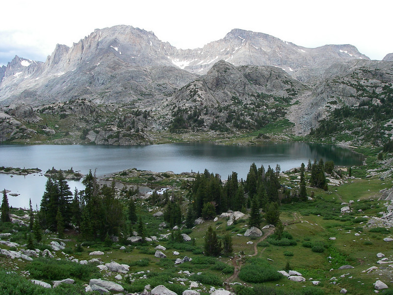 Island Lake (10,300ft) - after about 12 miles and 8 hours hiking.