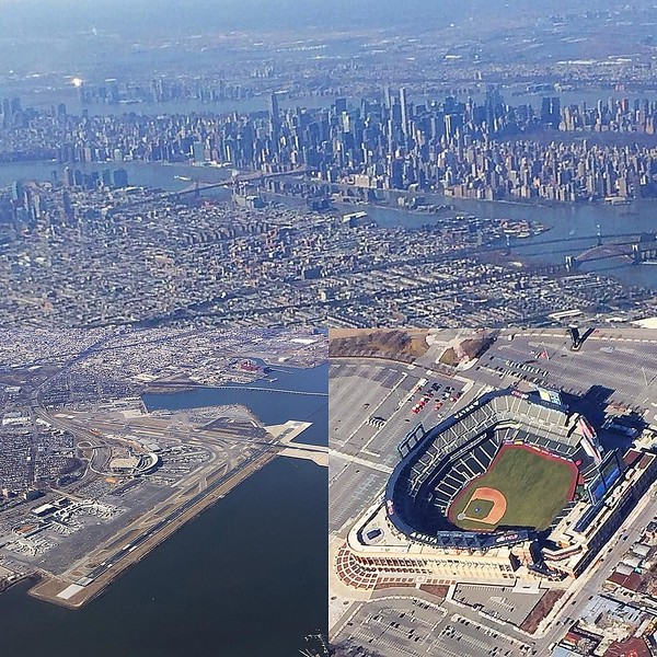 Great day and a perfect flight pattern out of NYC today.