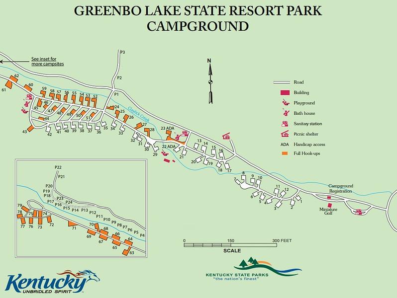 Greenbo Lake State Resort Park (Campground Map)