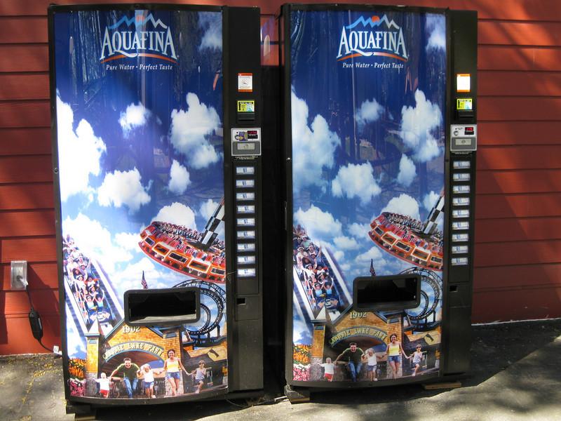 The Aquafina vending machines had new themed wraps.