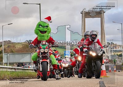 Santa's on a Bike Plymouth Ride to Little Harbour 2019
