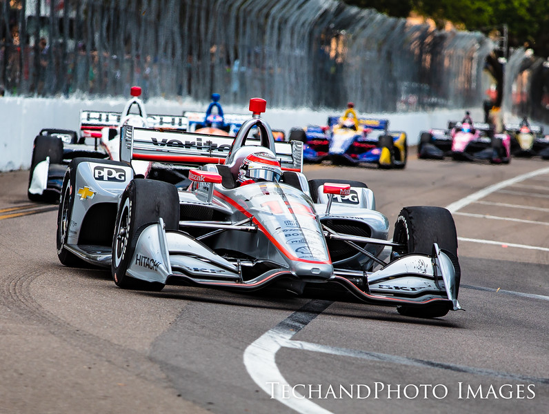 Will Power down the backstretch at 150mph turn at The Firestone Grand Prix of St Petersburg held on Sunday  March 10th