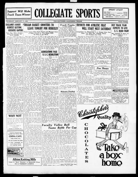 The Southern California Trojan, Vol. 15, No. 42, January 17, 1924