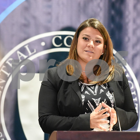 09/20/17 Wesley Bunnell | Staff A conference was held at CCSU on Wednesday morning to announce the availability of Narcan on all 16 of the CSCU campuses by the end of the fall 2017 semester. New Britain Mayor Erin Stewart.
