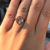 1.96ctw Fancy Golden Brown Hexagon Diamond and Baguette Trilogy Ring 21