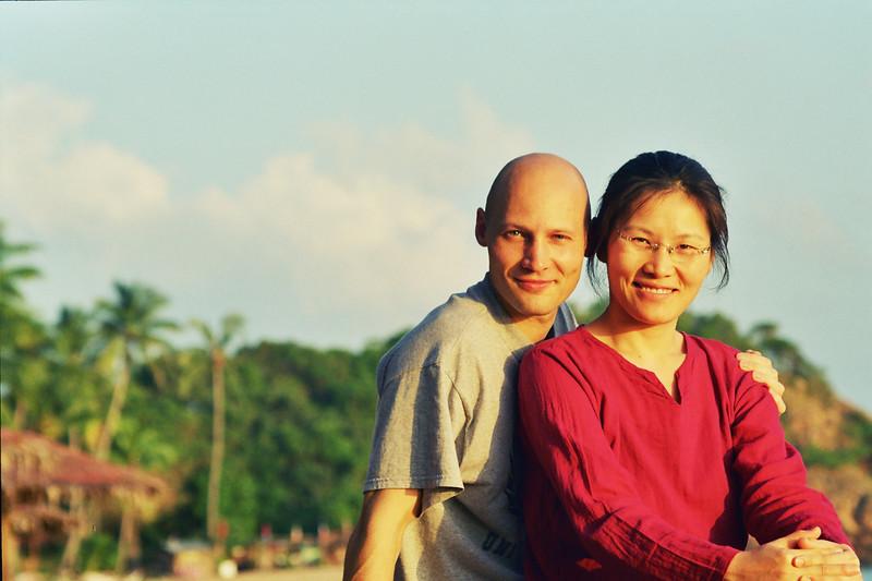 2002 December MiJung Rick before breakfast on Samui Thailand.jpg