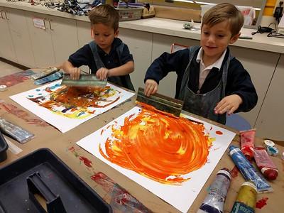 Kindergarten Action Paintings