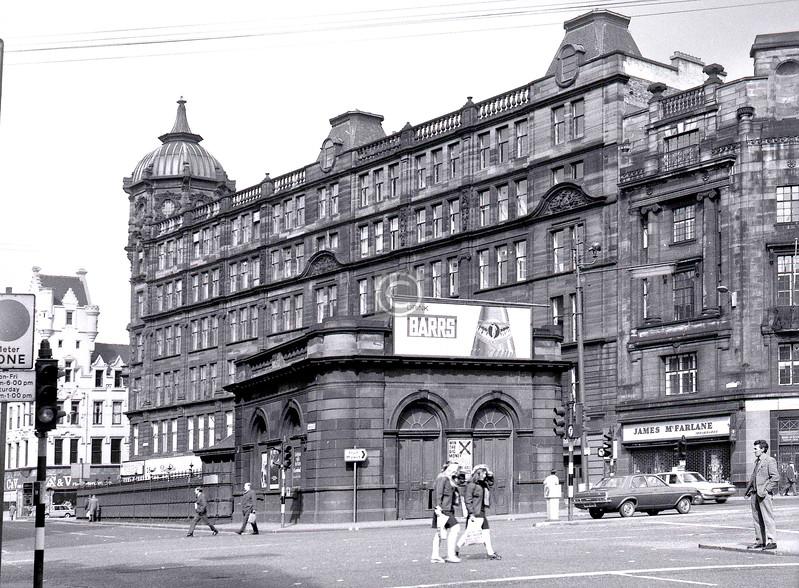 Glasgow Cross Station, built 1896, rebuilt 1923, closed 1964, demolished 1977.    April 1973