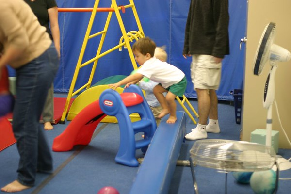 Andrew's 1st Day of Gymnastics Class